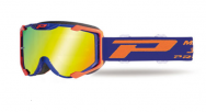 Маска кроссовая Progrip Menace 3400-272 FL Blue-Orange Fluo